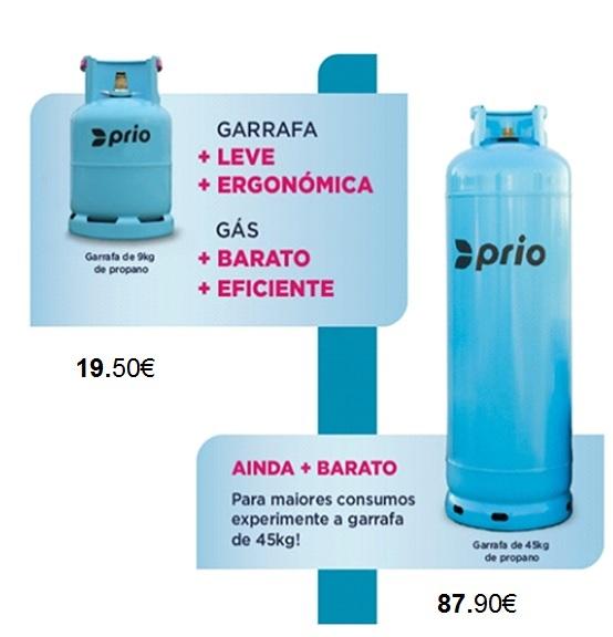 AG NOVOS PRECOS Encomendas de Gás